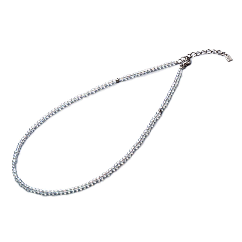 チタン水晶ネックレス(3mm玉)