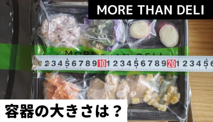 MORE THAN DELI(モアザンデリ)の容器【サイズや大きさは?】弁当箱を実寸測定してみた