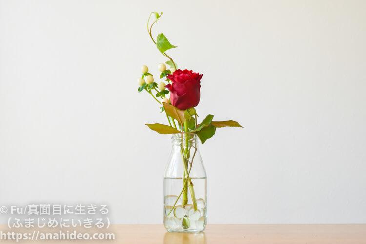 「バラ」、「ヒぺリカム」、「アイビー」