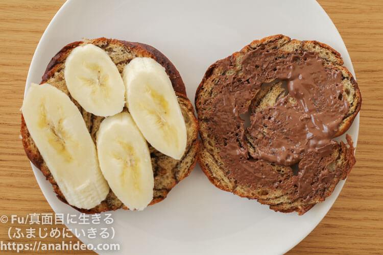 ヌテラとバナナサンド