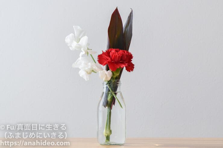 ライフルフラワー ライトプランで届いた花