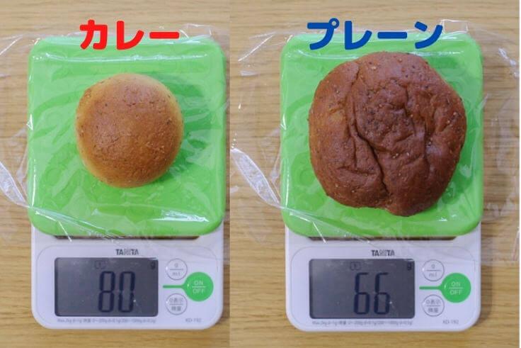 ベースブレッド 重さ比較
