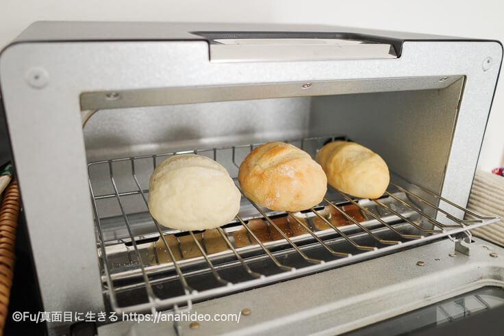 パンドをトースターで焼く